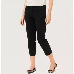 LOFT Curvy Crop Pants Size 6 Black Ann Taylor